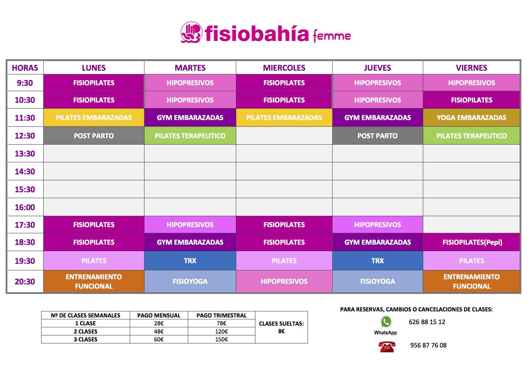 pilates el puerto fisiobahia femme